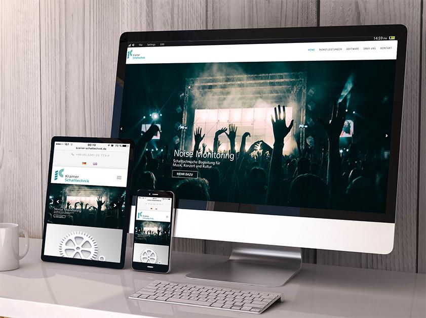 Kramer Schalltechnik Sankt Augustin Webseite | Responsive Webdesign Projekt | Passion Marketing GmbH Werbeagentur Köln