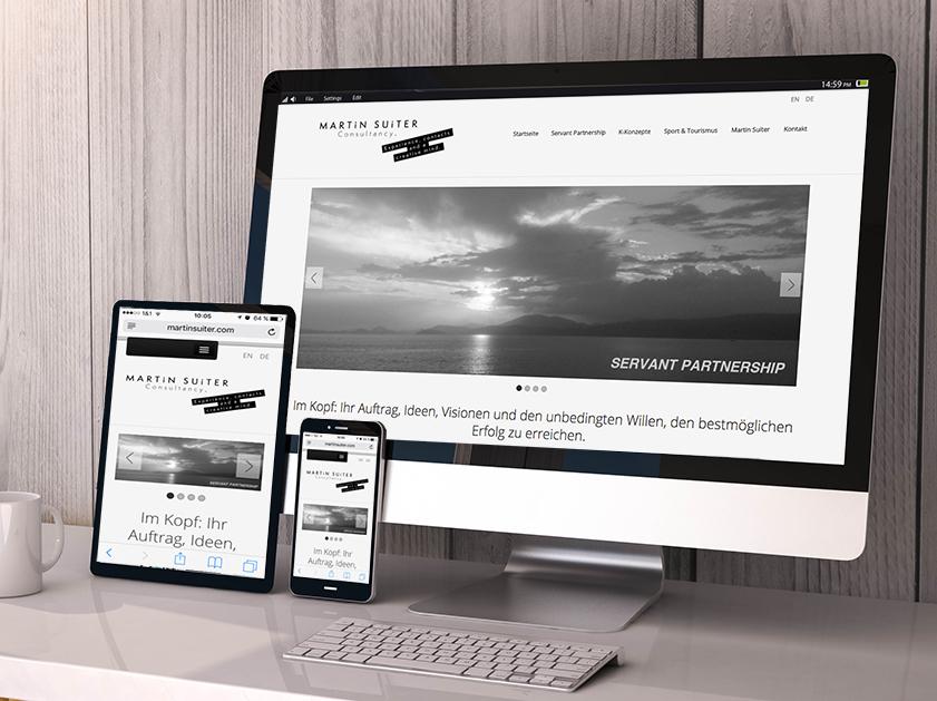 Martin Suiter Consultancy München Webseite | Responsive Webdesign Projekt | Passion Marketing GmbH Werbeagentur Köln