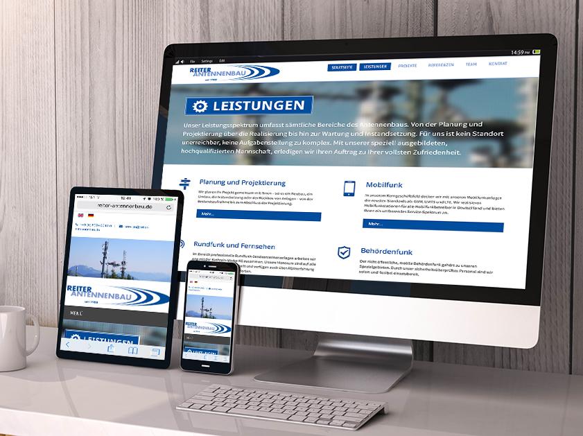 Reiter Antennenbau Warngau Webseite | Responsive Webdesign Projekt | Passion Marketing GmbH Werbeagentur Köln