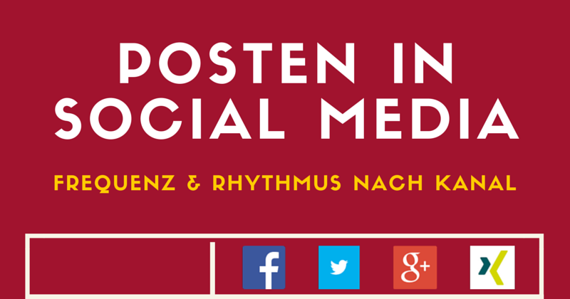 Infografik Social Media | Posting Frequenz Social Media Tipps | Passion Marketing GmbH Werbeagentur Köln