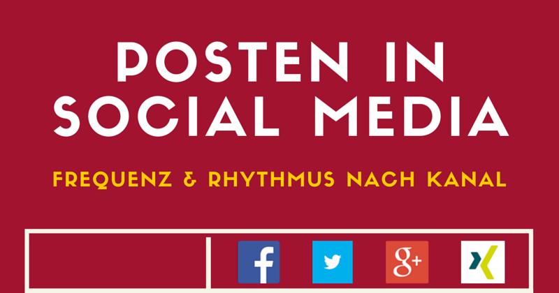 Infografik Social Media | Posting Frequenz Social Media Tipps | Passion Marketing GmbH Werbeagentur Köln