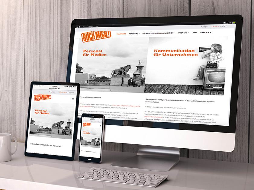 Buch Mich Webseite | Responsive Webdesign Projekt | Passion Marketing GmbH Werbeagentur Köln