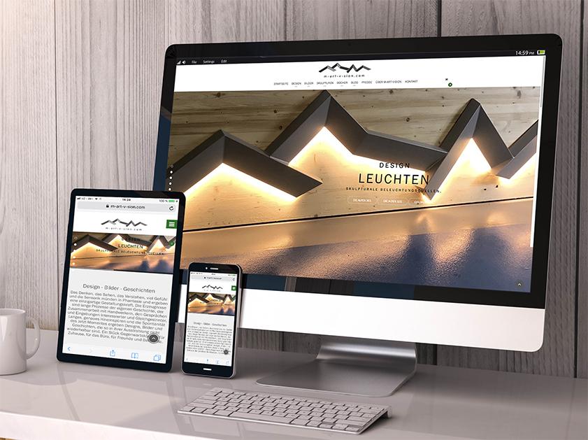 m-art-v-sion Onlineshop Webseite | Responsive Webdesign Projekt | Passion Marketing GmbH Werbeagentur Köln