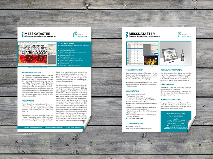 Kramer Schalltechnik Sankt Augustin Datenblatt | Grafikdesign Layout Projekt | Passion Marketing GmbH Werbeagentur Köln