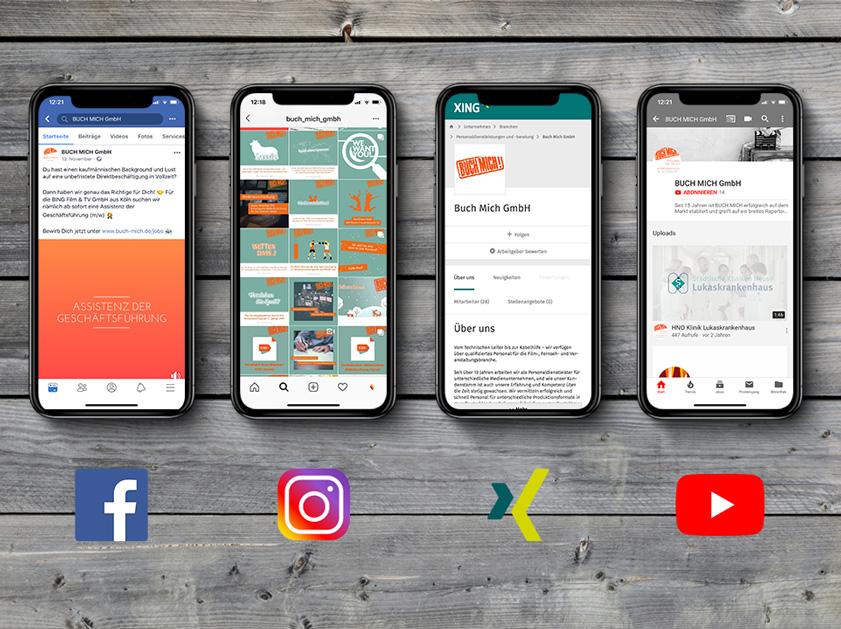 Buch Mich Köln | Social Media Marketing Projekt | Facebook Xing Instagram Youtube | Passion Marketing GmbH Werbeagentur Köln