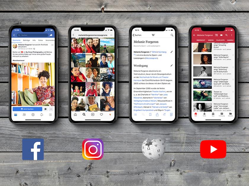 Melanie Forgeron | Social Media Marketing Projekt | Facebook Wikipedia Wordpress Webseite Instagram Youtube | Passion Marketing GmbH Werbeagentur Köln