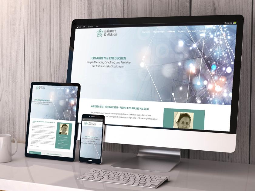 Balance & Aktion Zürich Webseite | Responsive Webdesign Relaunch Projekt | Passion Marketing GmbH Werbeagentur Köln